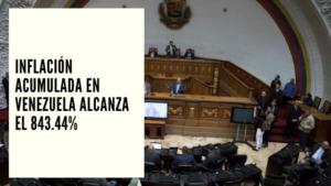 CHF Advisors Noticias Agosto 12 - Inflación acumulada en Venezuela alcanza el 843.44%